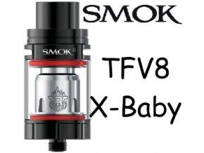 smok smoktech tfv8 xbaby clearomizer black cerny