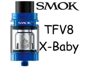 smok smoktech tfv8 xbaby clearomizer blue modry