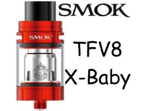 smok smoktech tfv8 xbaby clearomizer cerveny red