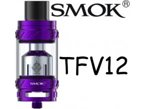 smok smoktech tfv12 beast clearomizer purple fialovy