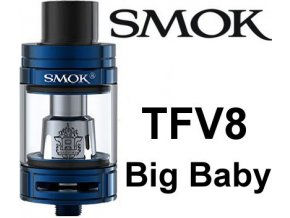 smok smoktech tfv8 big baby clearomizer blue modry