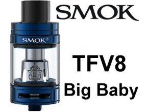 smok smoktech tfv8 big baby clearomizer blue modry