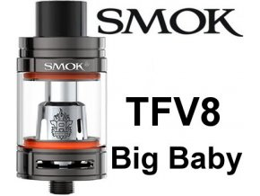 smok smoktech tfv8 big baby clearomizer gun metal