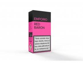 E-liquid Emporio Red Baron 10ml - Červený a černý rybíz se prolíná s jahodou. Černé rozinky, anýz a mentol podtrhují celkovou kompozici.