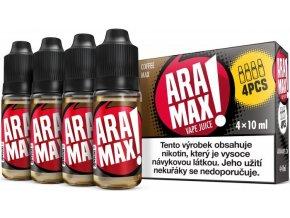 e liquid aramax 4pack coffee max 4x10ml 3mg
