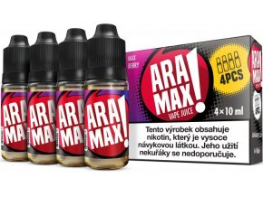 e liquid aramax 4pack max berry 4x10ml 3mg