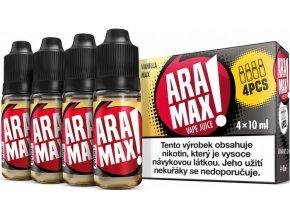 e liquid aramax 4pack vanilla max 4x10ml 3mg