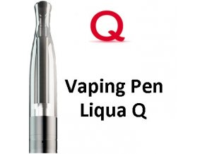 ritchy liqua q vaping pen clearomizer 18ohm 2ml black cerny