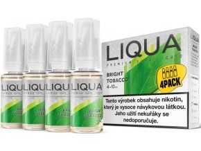 e liquid liqua elements 4pack bright tobacco 4x10ml cista tabakova prichut