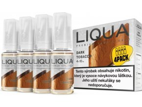 e liquid liqua elements 4pack dark tobacco 4x10ml silny tabak