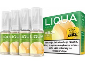 e liquid liqua elements 4pack melon 4x10ml zluty meloun