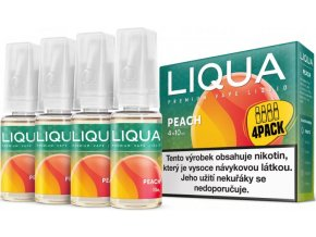 e liquid liqua elements 4pack peach 4x10ml broskev