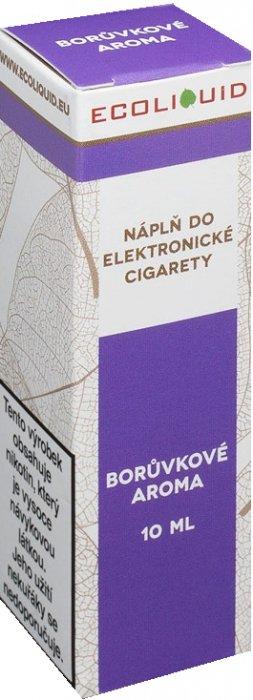 E-liquid Ecoliquid Blueberry (Borůvka) 10ml Množství nikotinu: 0mg