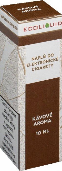 E-liquid Ecoliquid Coffee (Káva) 10ml Množství nikotinu: 0mg