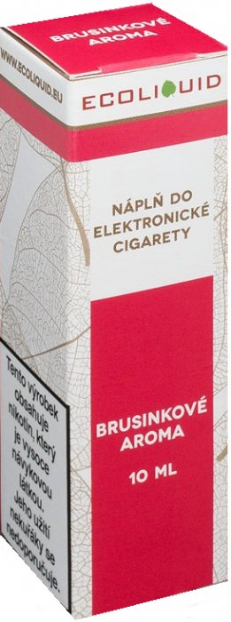 E-liquid Ecoliquid Cranberry (Brusinka) 10ml Množství nikotinu: 0mg