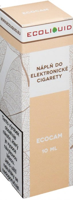 E-liquid Ecoliquid ECOCAM 10ml Množství nikotinu: 0mg