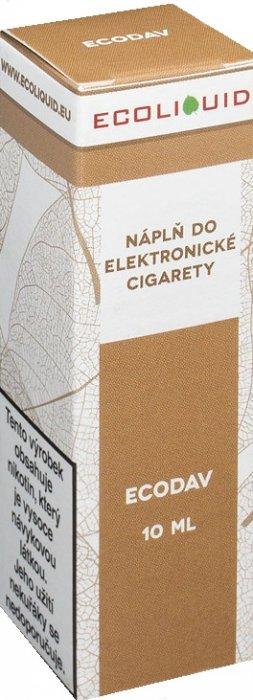 E-liquid Ecoliquid ECODAV 10ml Množství nikotinu: 0mg