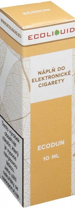 E-liquid Ecoliquid ECODUN 10ml Množství nikotinu: 0mg