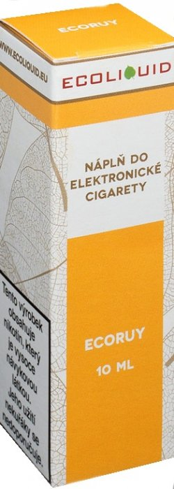 E-liquid Ecoliquid ECORUY 10ml Množství nikotinu: 0mg