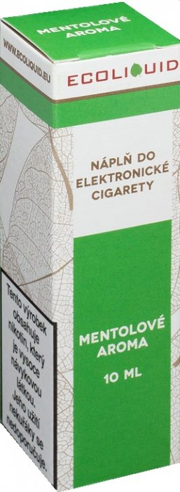 E-liquid Ecoliquid Menthol (Mentol) 10ml Množství nikotinu: 0mg