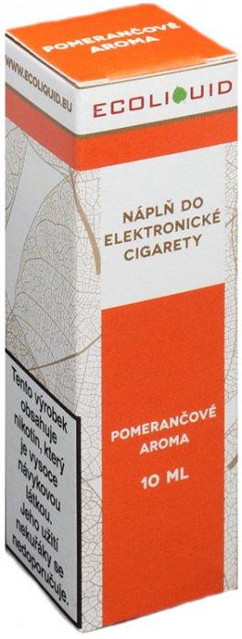 E-liquid Ecoliquid Orange (Pomeranč) 10ml Množství nikotinu: 0mg