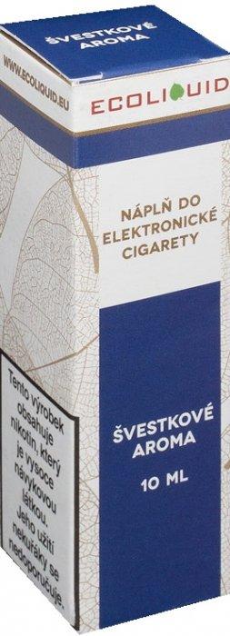E-liquid Ecoliquid Plum (Švestka) 10ml Množství nikotinu: 0mg
