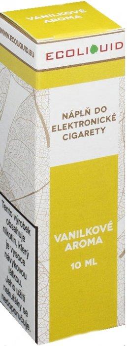E-liquid Ecoliquid Vanilla (Vanilka) 10ml Množství nikotinu: 3mg
