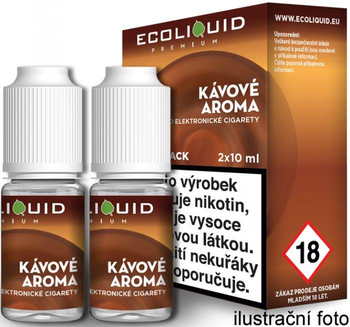 E-liquid Ecoliquid Coffee (Káva) 2Pack 2x10ml Množství nikotinu: 0mg