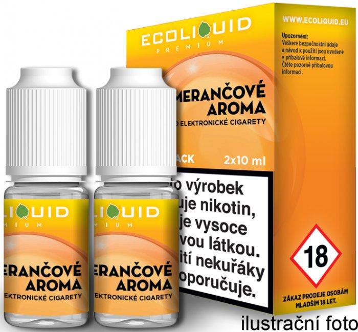 E-liquid Ecoliquid Orange (Pomeranč) 2Pack 2x10ml Množství nikotinu: 0mg