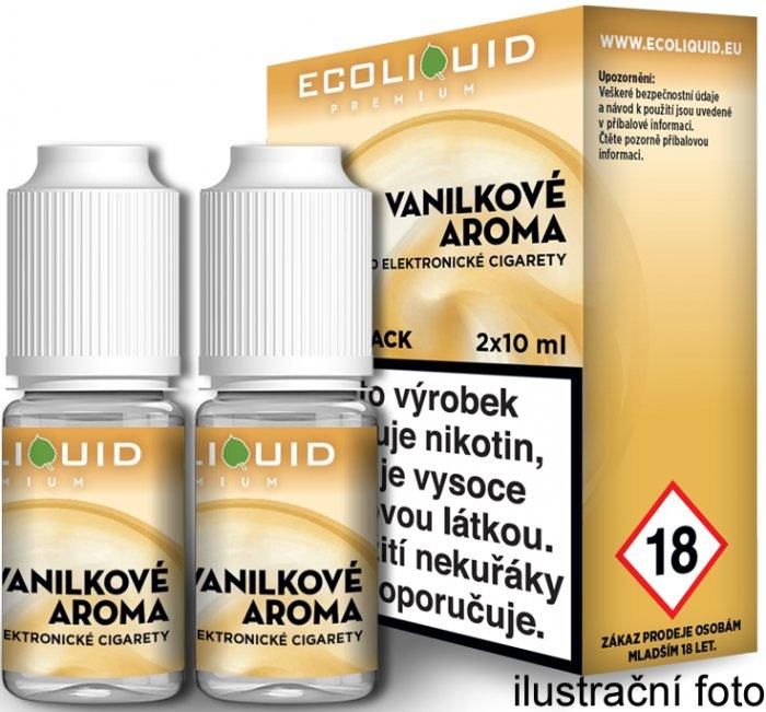 E-liquid Ecoliquid Vanilla (Vanilka) 2Pack 2x10ml Množství nikotinu: 3mg