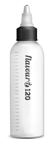 Flavourit Prázdná lahvička s twist uzávěrem a ryskou 120ml