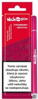Nick One Slim jednorázová elektronická cigareta 90mAh Strawberry Menthol (Jahoda a mentol) 16mg