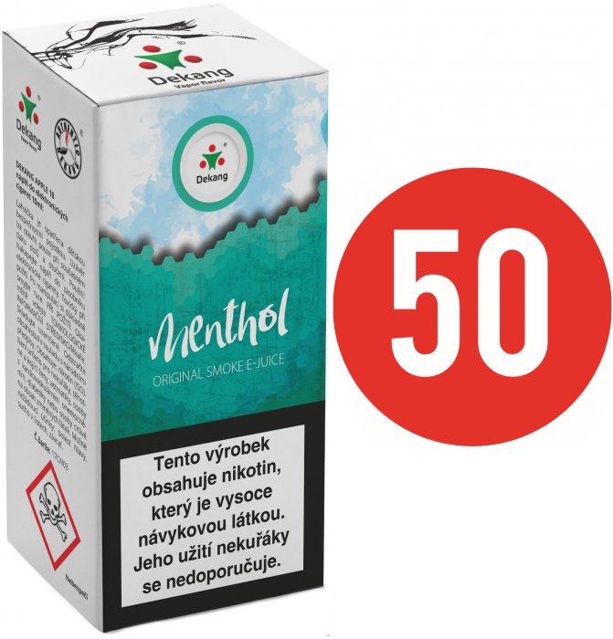 E-liquid Dekang Fifty 10ml Menthol (Mentol) Množství nikotinu: 6mg
