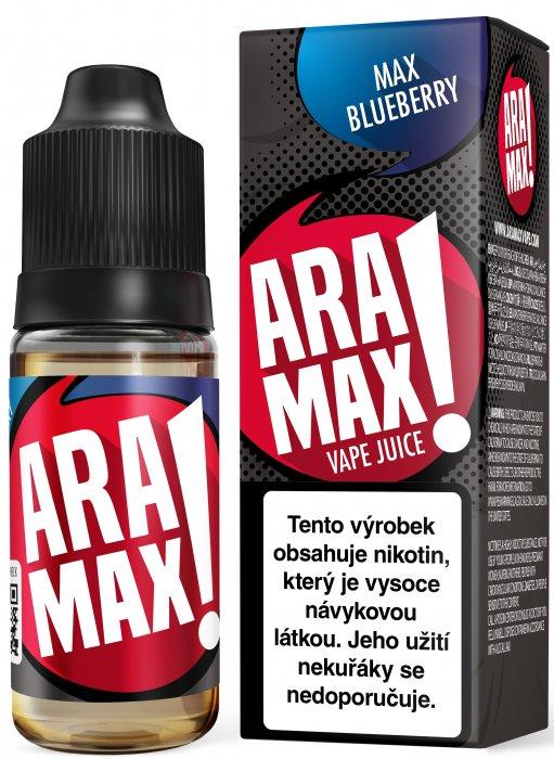 ARAMAX Max Blueberry 10ml Množství nikotinu: 0mg