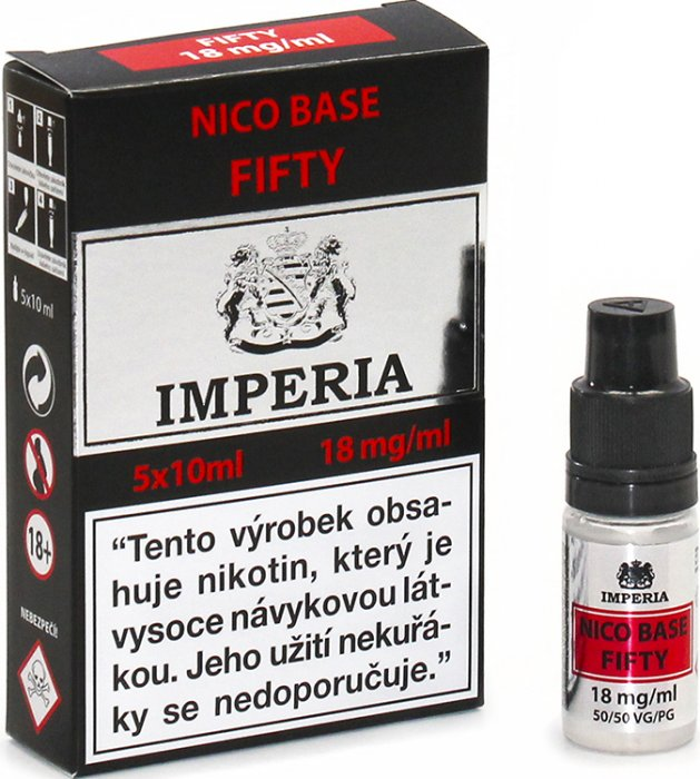 Nikotinová báze IMPERIA 5x10ml PG50/VG50 18mg