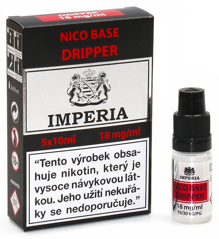 Nikotinová báze IMPERIA Dripper 5x10ml PG30/VG70 18mg