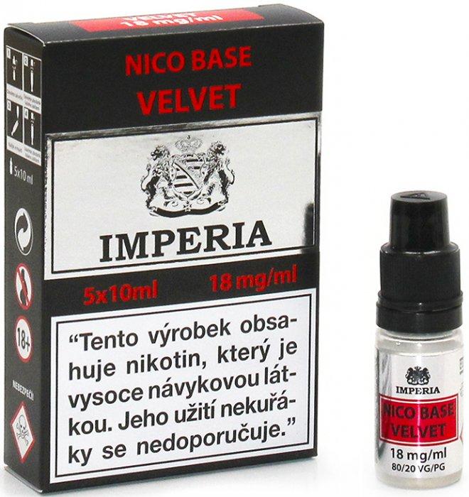 Nikotinová báze IMPERIA Velvet 5x10ml PG20/VG80 18mg