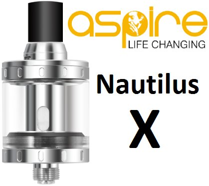 Aspire Clearomizér Nautilus X Stříbrný 2ml