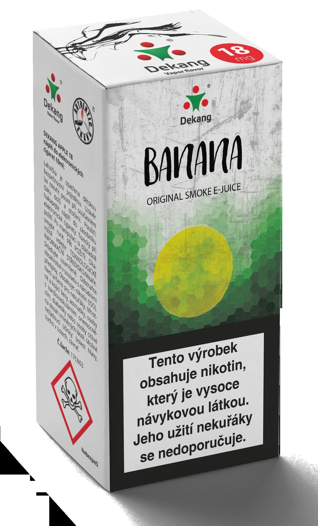 E-liquid Dekang 10ml Banán (Banana) Množství nikotinu: 6mg