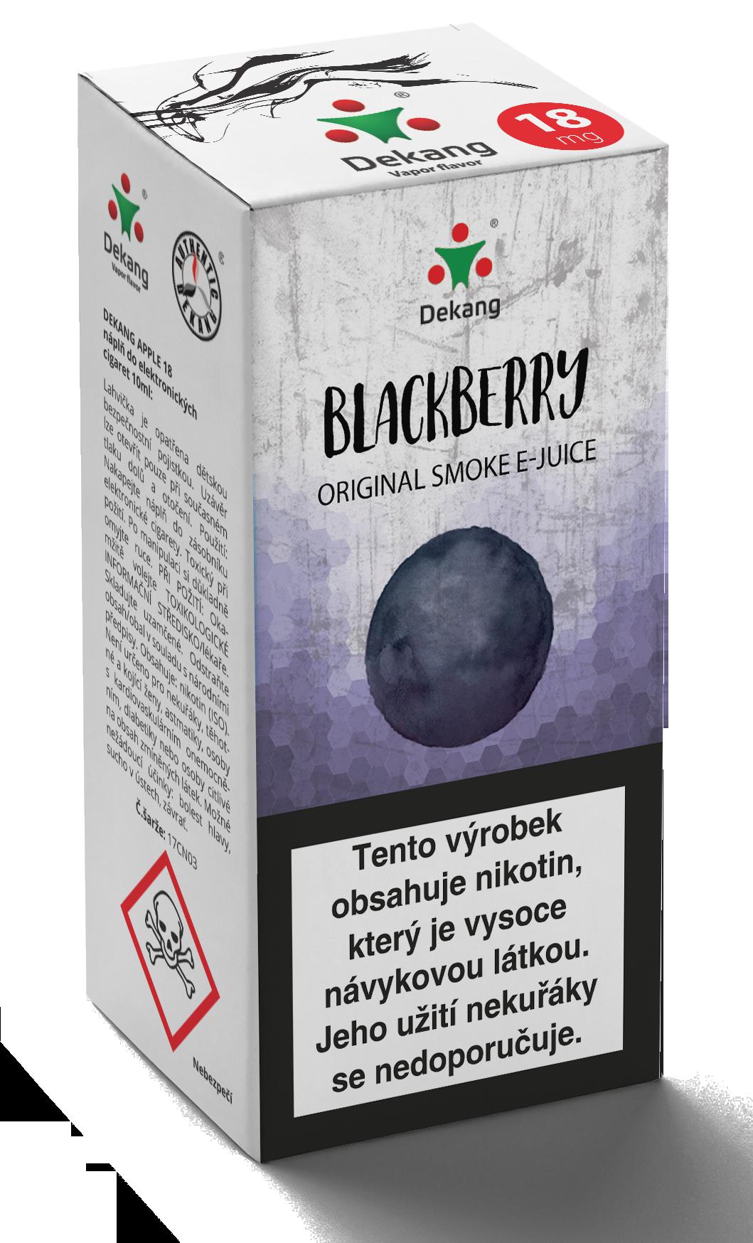 E-liquid Dekang 10ml Ostružina - Blackberry Množství nikotinu: 0mg