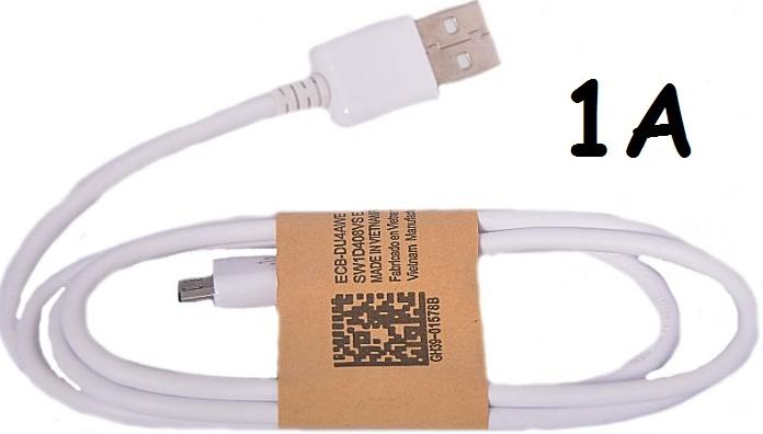 Univerzální USB-MICRO USB kabel 1A bílý (1000mA)