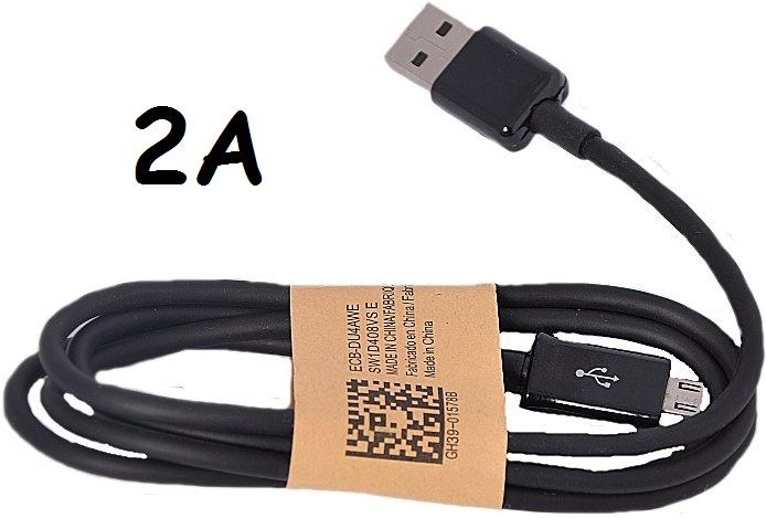 Univerzální USB-MICRO USB kabel 2A černý (2000mA)