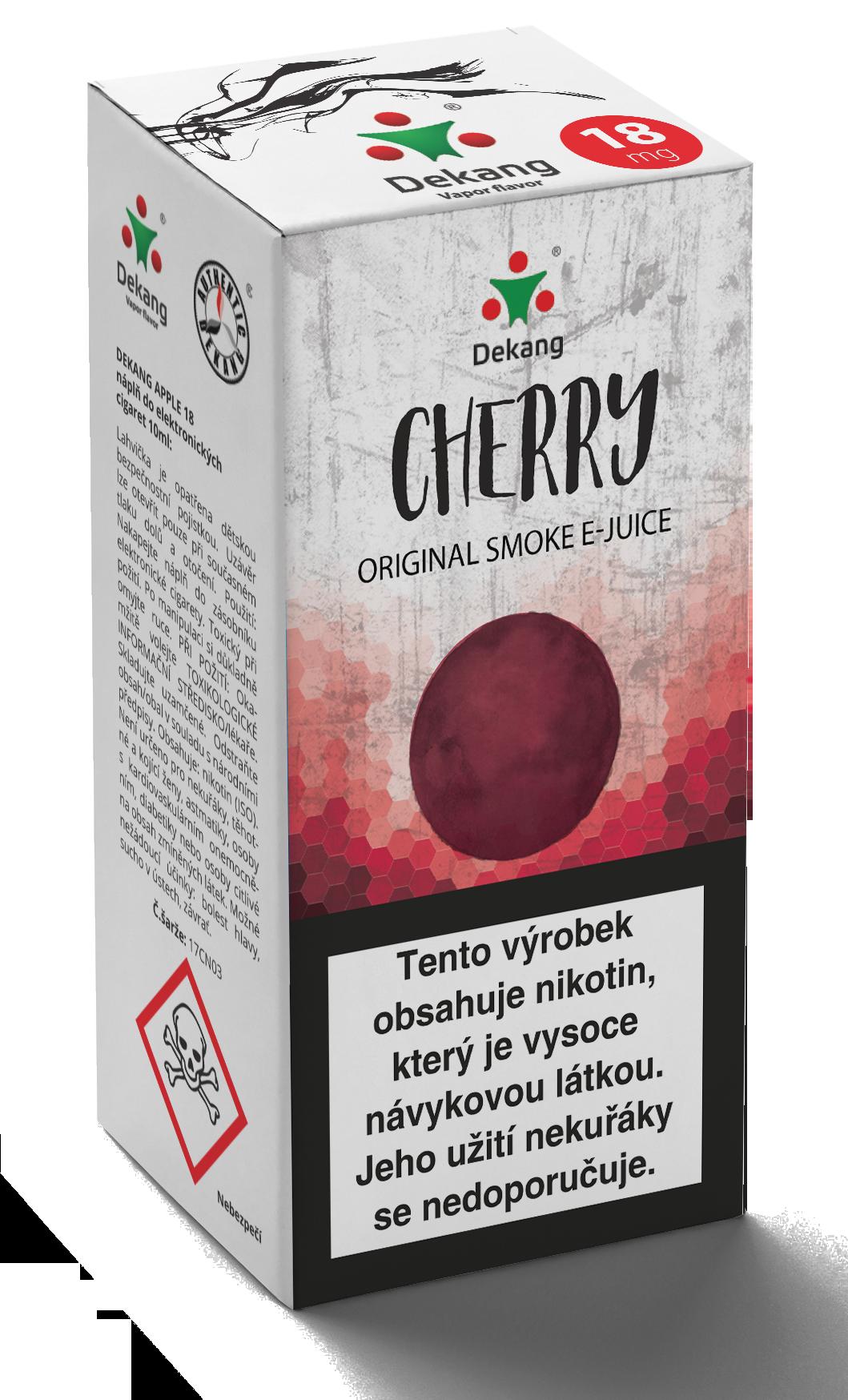 E-liquid Dekang 10ml Třešeň - Cherry Množství nikotinu: 6mg