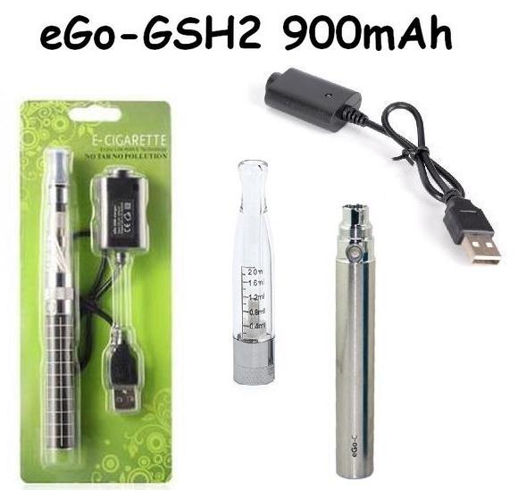 Elektronická cigareta eGo-GSH2 900mAh nerezová 1ks