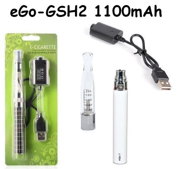 Elektronická cigareta eGo-GSH2 1100mAh bílá 1KS