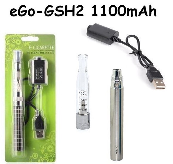 Elektronická cigareta eGo-GSH2 1100mAh nerezová 1KS