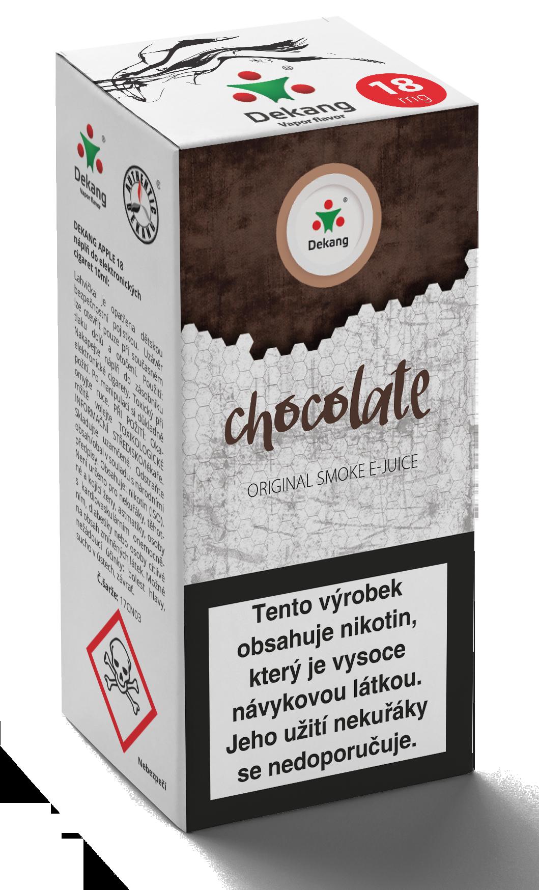 E-liquid Dekang 10ml Čokoláda - Chocolate Množství nikotinu: 0mg
