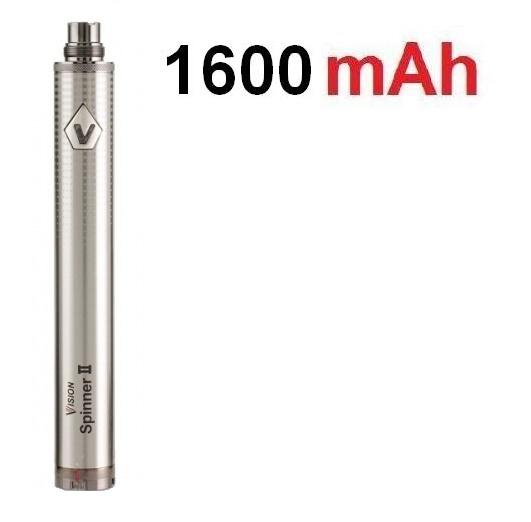 Vision Baterie Spinner II eGo VV 1600mAh Stříbrná