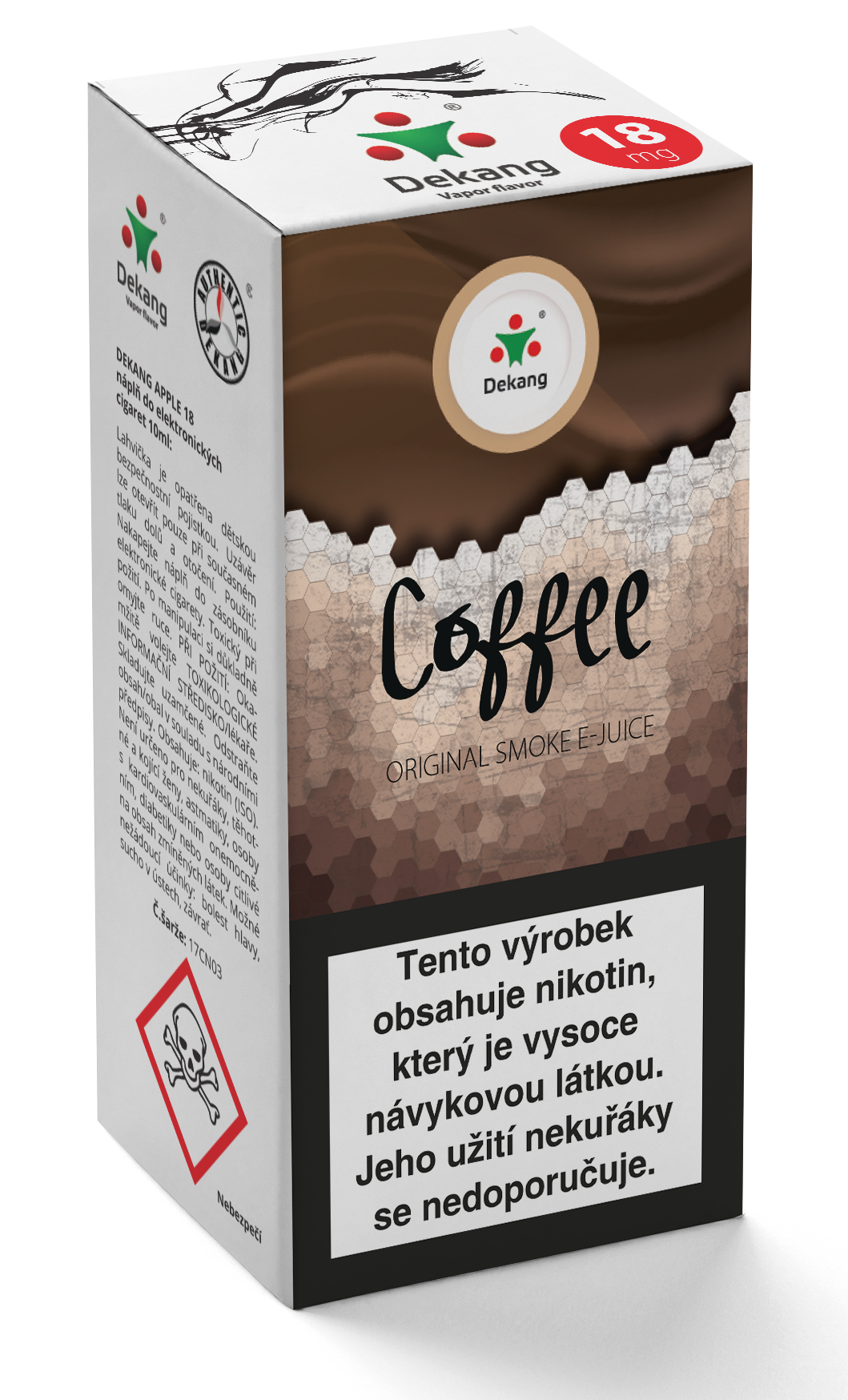E-liquid Dekang 10ml Káva - Coffee Množství nikotinu: 0mg