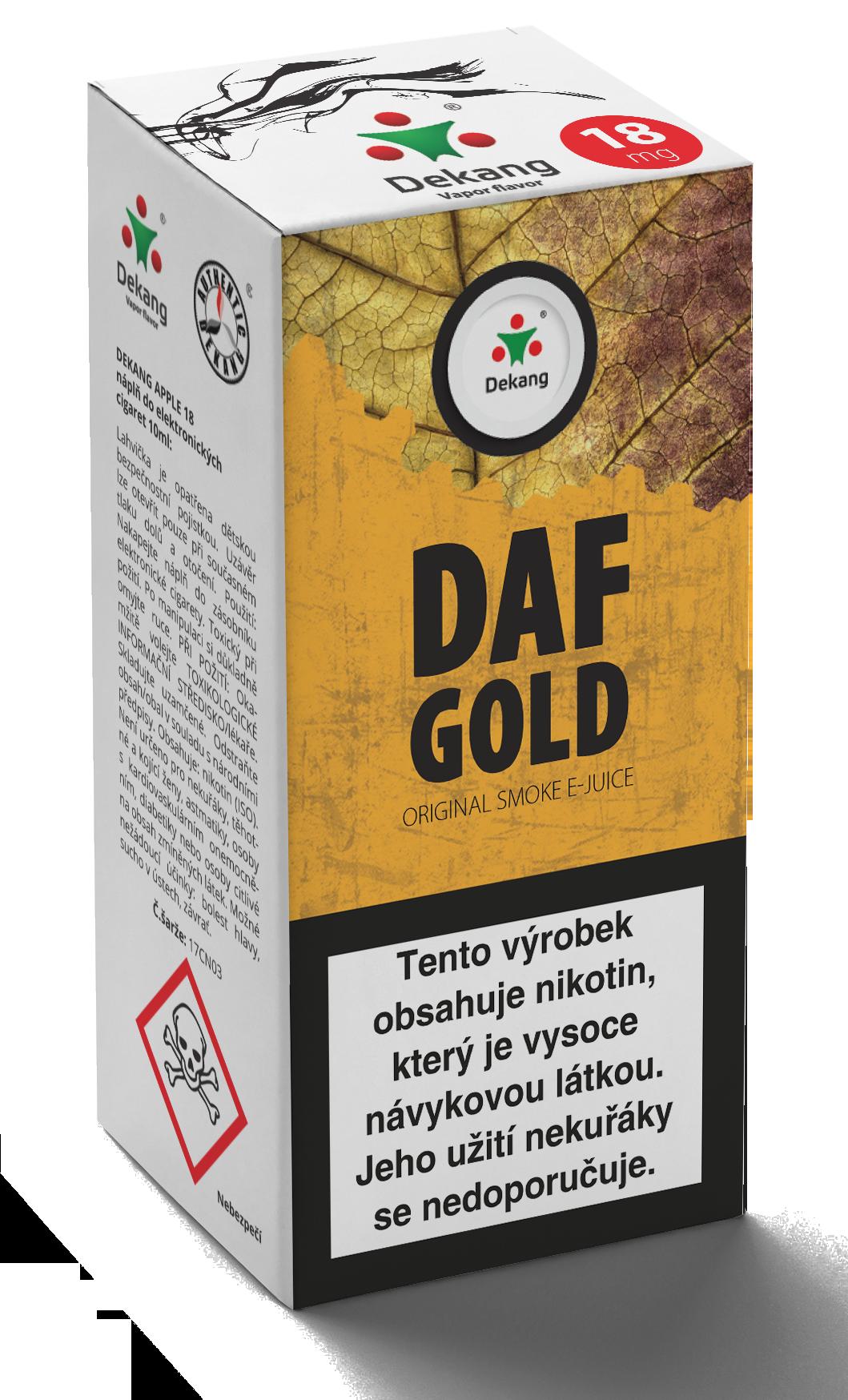 E-liquid Dekang 10ml Daf Gold Množství nikotinu: 6mg
